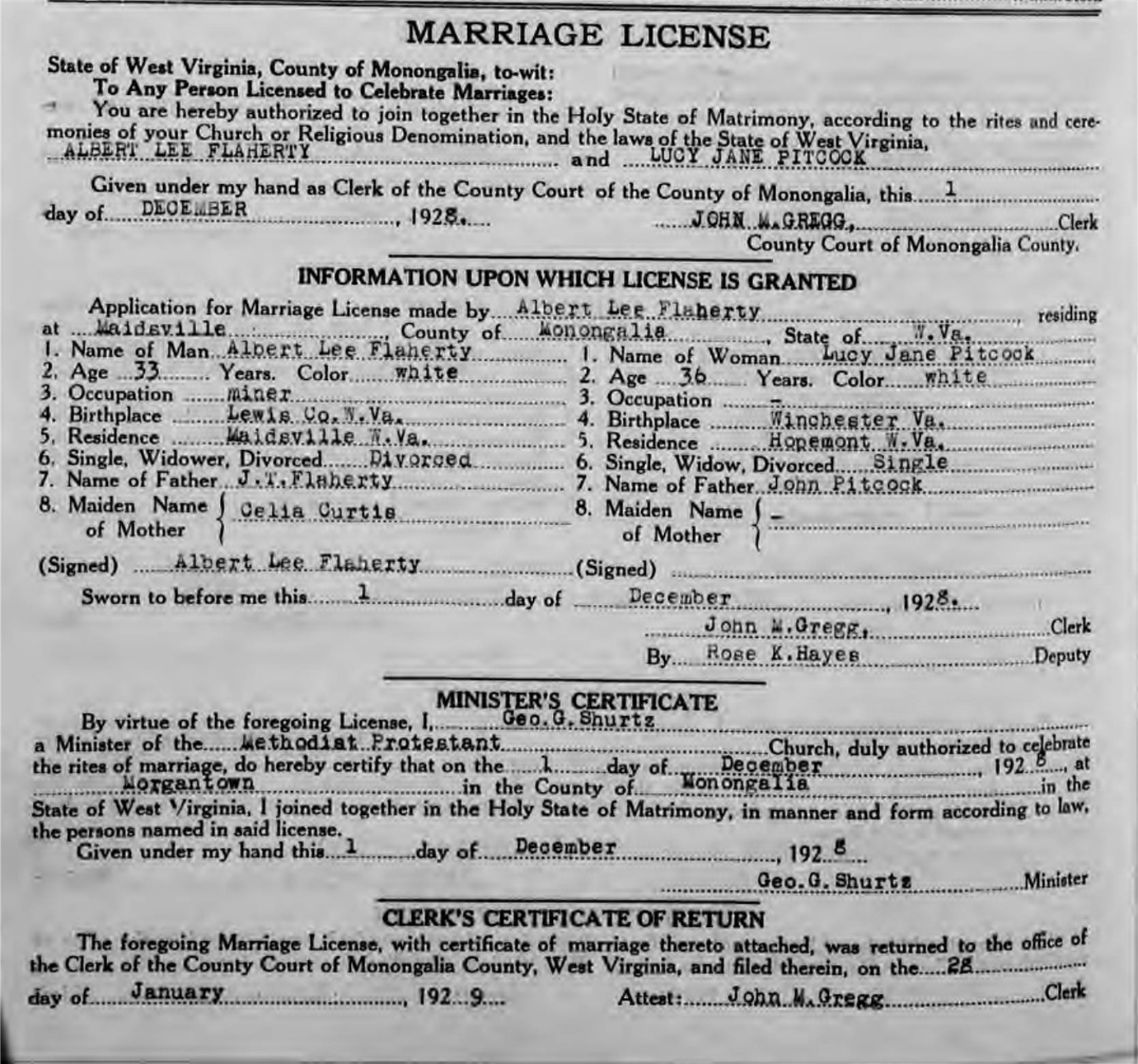 Marriage And Death Certificates